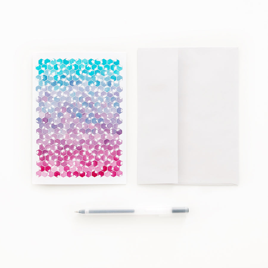 'Awaken' Geometric Watercolor Greeting Cards | APS Gives Back
