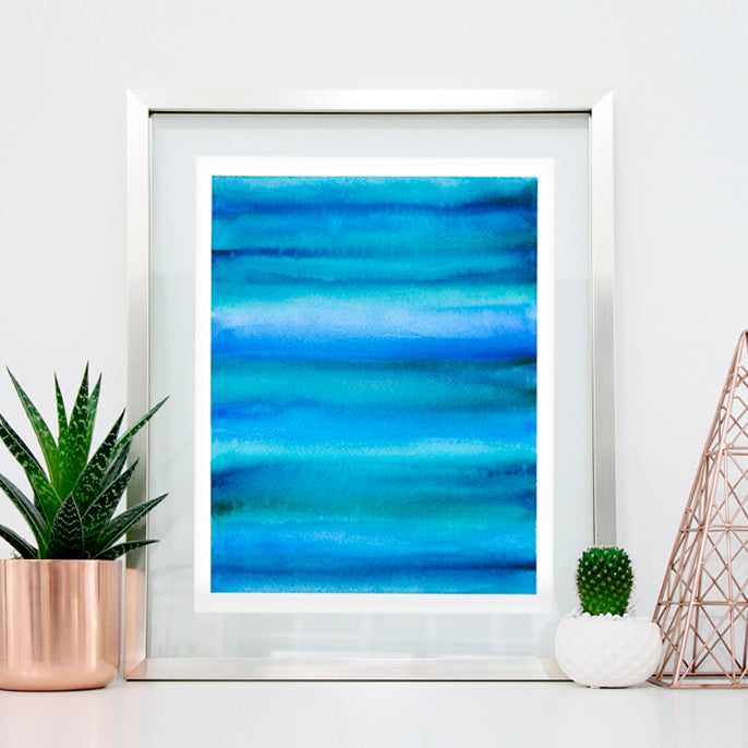 'Calm 1' Abstract Watercolor Art Print | APS Gives Back