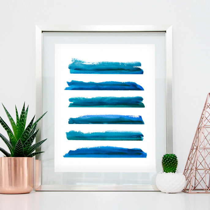 'Calm 3' Abstract Watercolor Art Print | APS Gives Back