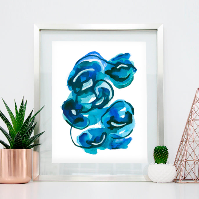 'Calm 4' Abstract Watercolor Art Print | APS Gives Back