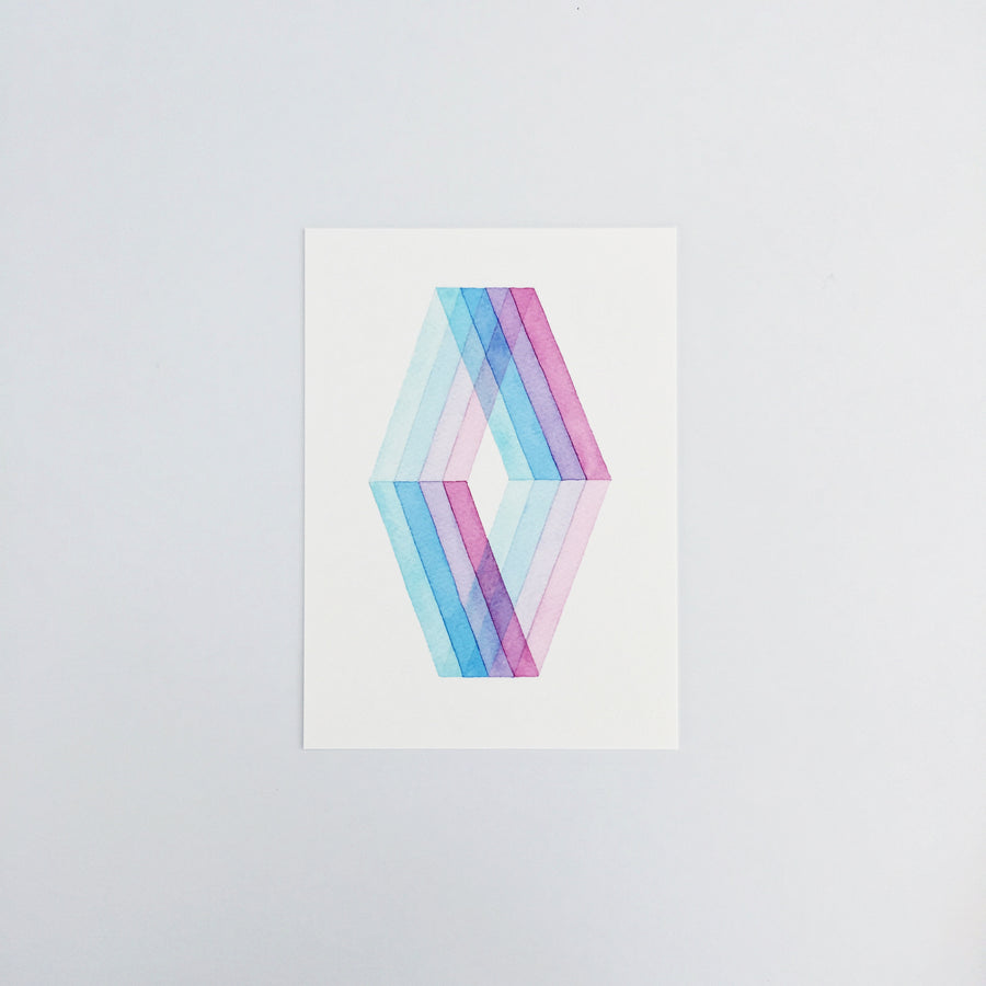 Day 25 Geometric Watercolor Art Print