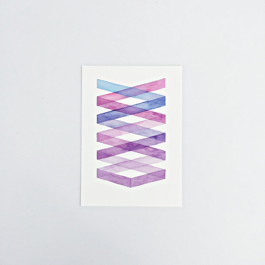 Day 29 / Geometric abstract watercolor print