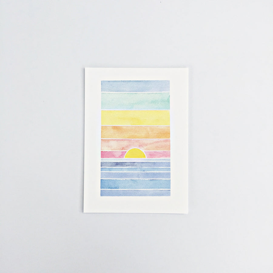 Day 39 / Geometric abstract watercolor print