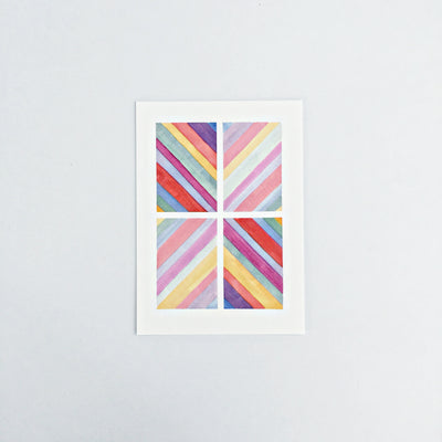 Day 43 / Geometric abstract watercolor print 5x7