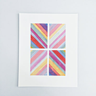 Day 43 / Geometric abstract watercolor print 8x10