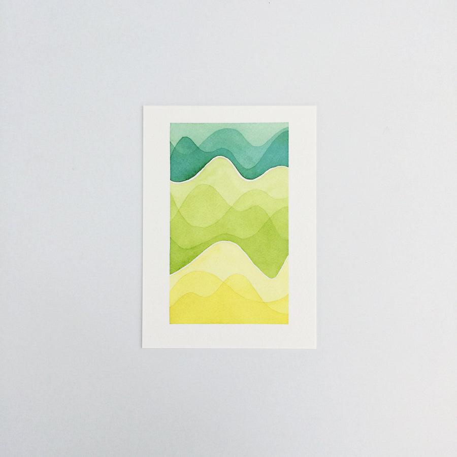 Day 49 / Geometric abstract watercolor print
