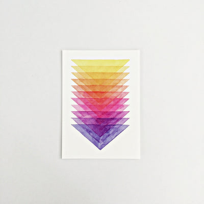 Day 52 / Geometric abstract watercolor print 5x7