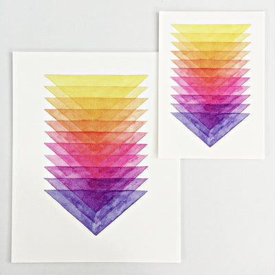 Day 52 / Geometric abstract watercolor print