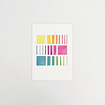 Day 60 / Geometric abstract watercolor print 5x7