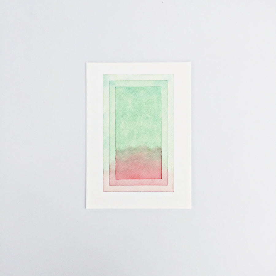 Day 86 / Geometric abstract watercolor print