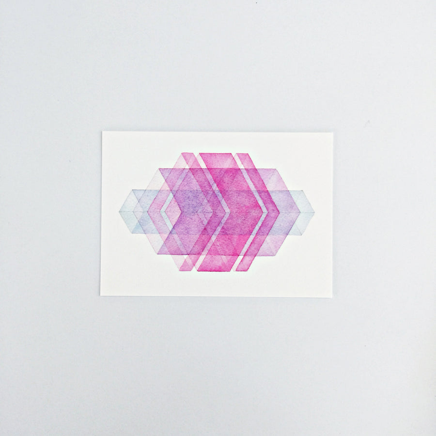 Day 89 Geometric Watercolor Art Print