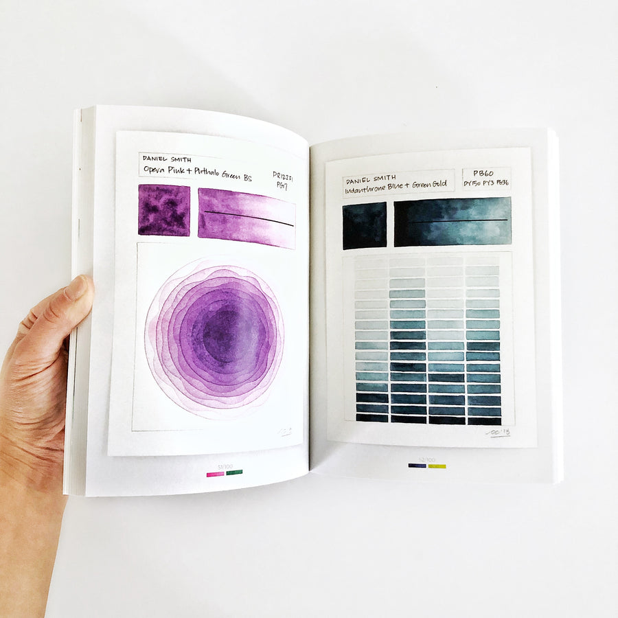 100 Days of Color Swatches geometric watercolor art book