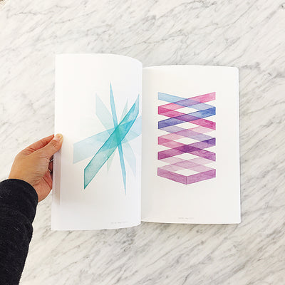#100PagesOfAPSsketchbook art book / geometric watercolor art