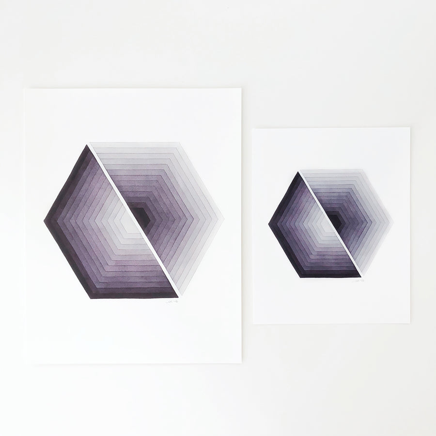 'Transformation 1' Geometric Watercolor Art Print | APS Gives Back