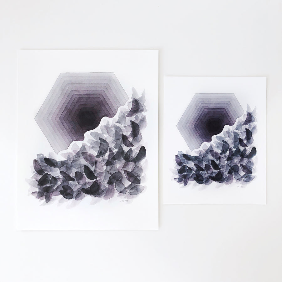 'Transformation 2' Geometric Watercolor Art Print | APS Gives Back
