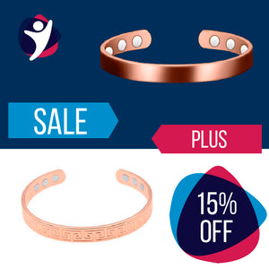 2 Copper Magnetic Bracelets (15% Discount)