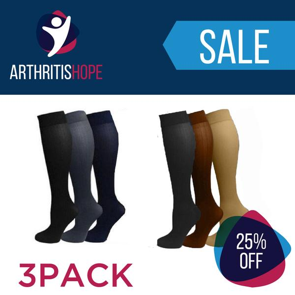 9acabc453d Compression Stockings for Arthritis Pain Relief 3Pack (25% Discount ...