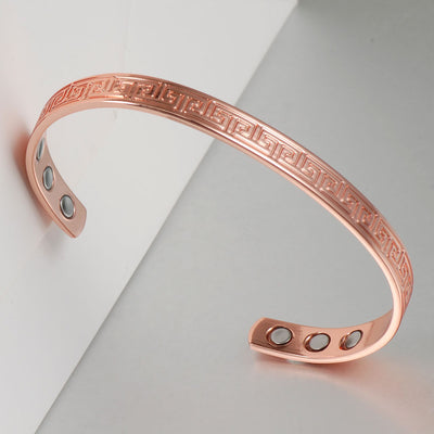 Ethnic Copper Magnetic Bracelet for Arthritis Relief