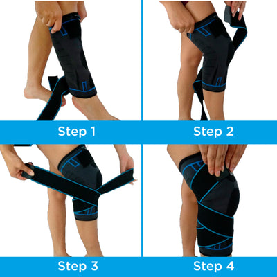 X-OVER KNEE COMPRESSION SLEEVE FOR ARTHRITIS