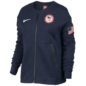 8399d354bb17 Nike Womens Team USA Tech Fleece Full Zip Jacket Shirt