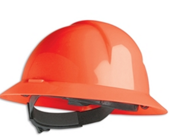 Wide brim hard hat