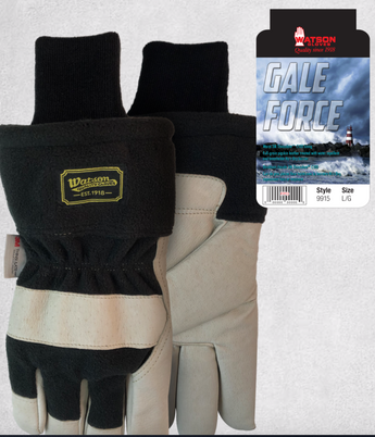 9915 Gale Force Polar fleece back Shirred elastic wrist Slip-on style storm cuff