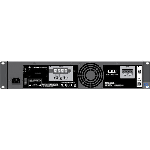 Crown Audio CDi2000 2X800W Power Amplifier Two-channel, 800W @ 4Ω, 70V/100V/140V Power Amplifier