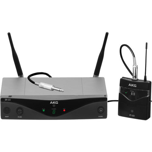 AKG WMS420 UHF Wireless Instrumental System (Band A: 530.025 to 559.00 MHz)