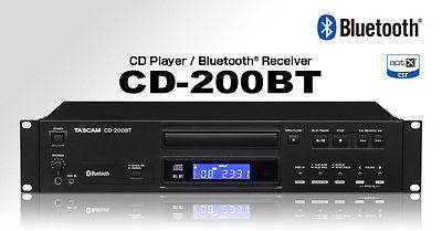 Tascam CD-200BT Rack Mountable CD Player w/ Built in Bluetooth