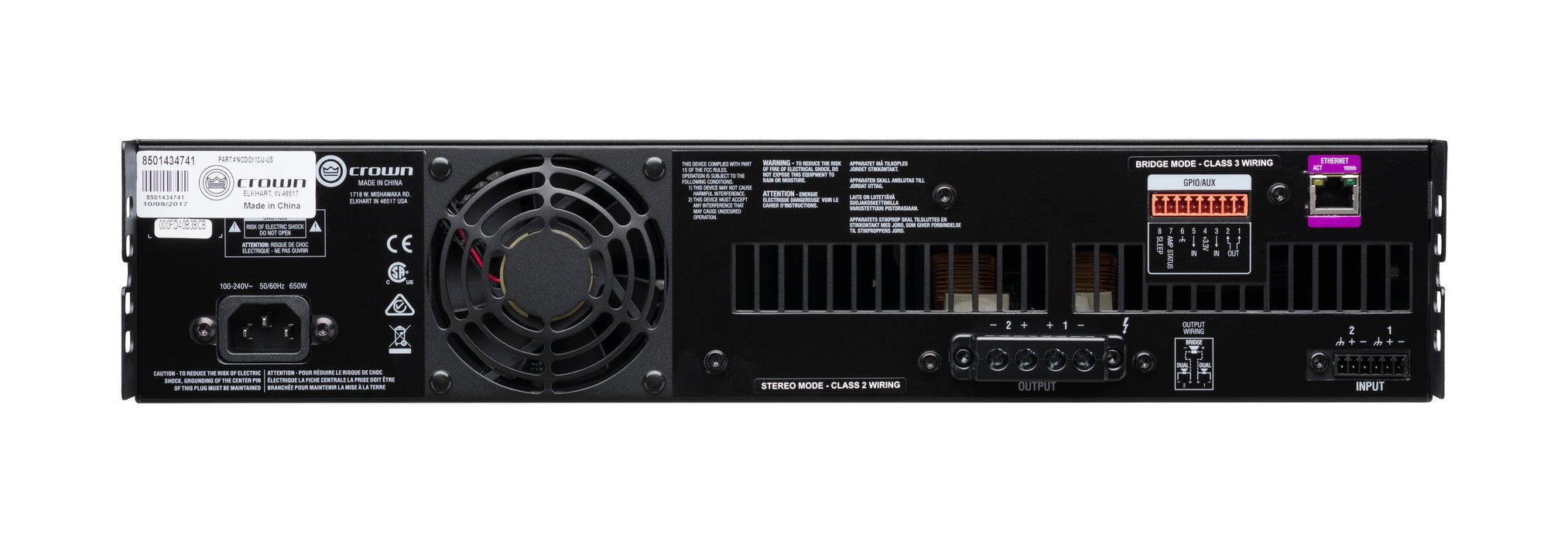 Crown Audio CDi DriveCore Series Crown CDi DriveCore 2|1200 2x1200 Power Amplifier