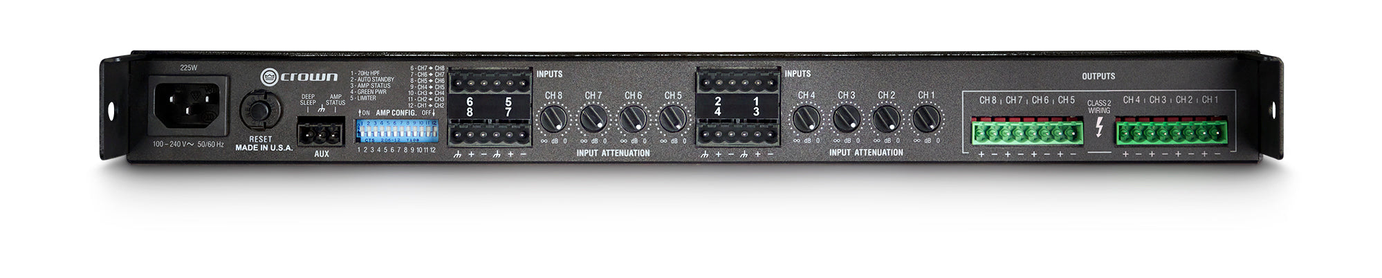 Crown Audio CT Series CT8150 Eight channel, 125W @ 4/8Ω Power Amp