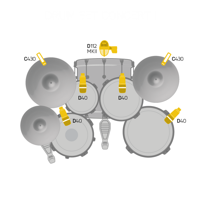AKG Drum Set Concert 1 Professional Drum Microphone Set. From D.O'B. Sound Pro