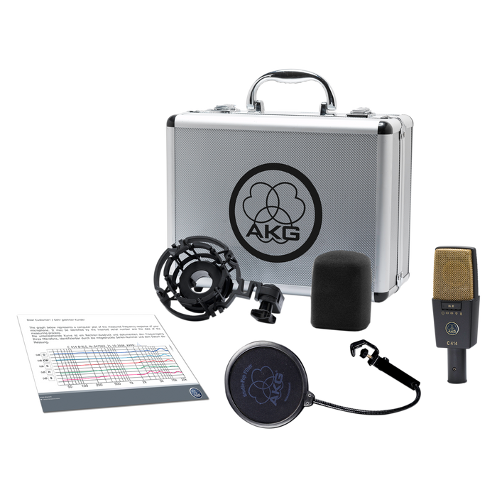 AKG C414 XLII Multiple Pattern Large Diaphragm Condenser Studio Microphone.