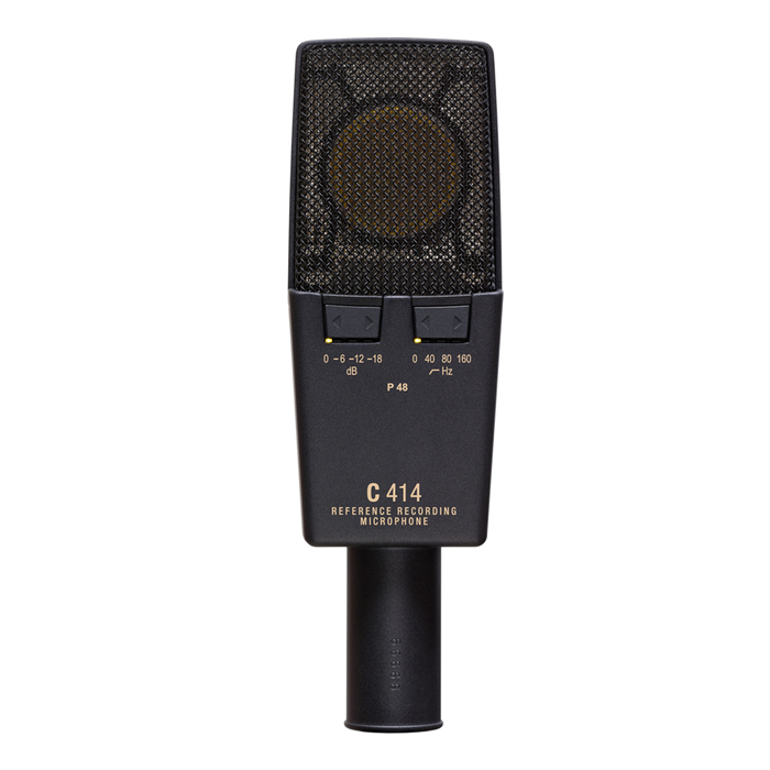 AKG C414 XLII ST Multiple Pattern Large Diaphragm Studio Condenser Microphone (A Matched Pair) From D.O'B. Sound Pro