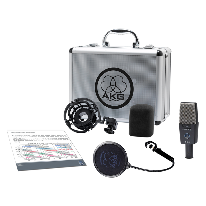 AKG C414 XLS Multi-Pattern Large Diaphragm Studio Condenser Microphone. From D.O'B. Sound Pro