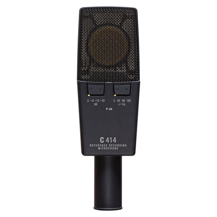 AKG C414 XLS ST Multiple Pattern Large Diaphragm Studio Condenser Microphones (A Matched Pair Stereo Set) From D.O'B. Sound Pro