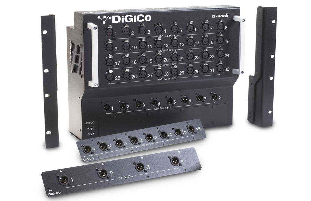 DiGiCo S31 Rack Pack Touring with DMI CAT5e x 1, DMI Blank x 1