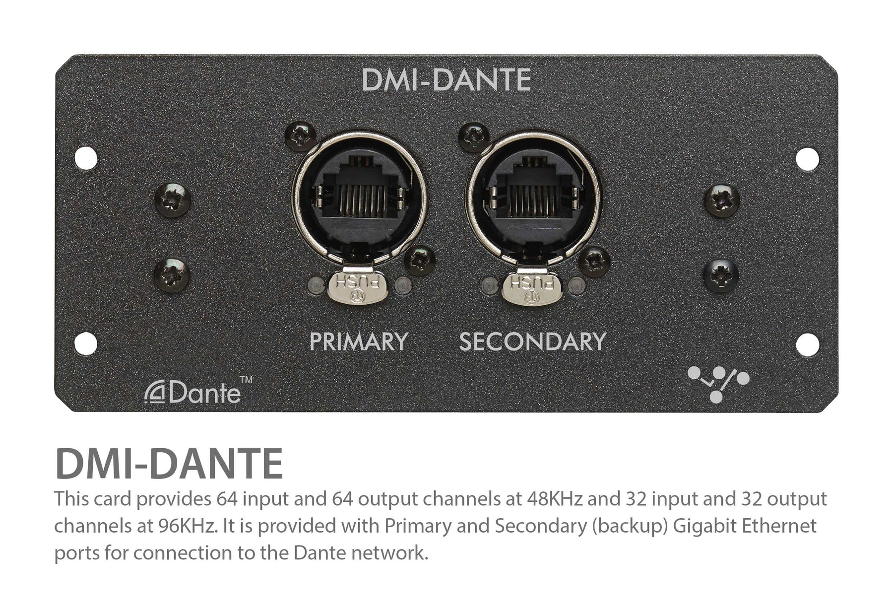DiGiCo DMI Dante Muti-Channel Option Card for S21 & S31 (MOD-DMI-DANTE)