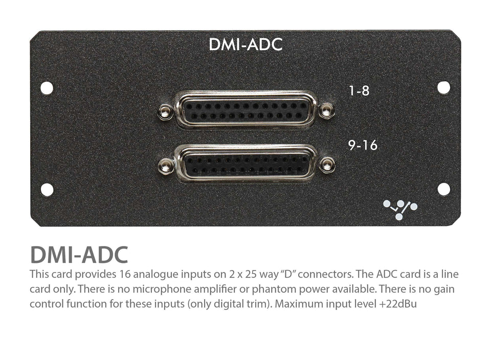 "Digico DMI ADC 1 x 25-Way D-Type connector - add 16 CH of Mic/Line to the Digico S Series Consoles ""P""(MOD-DMI-ADC)"