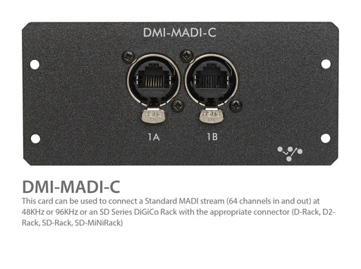 DiGiCo DMI-MADI-C CAT5e MADI Interface for S21 & S31 (MOD-DMI-MADI-C)