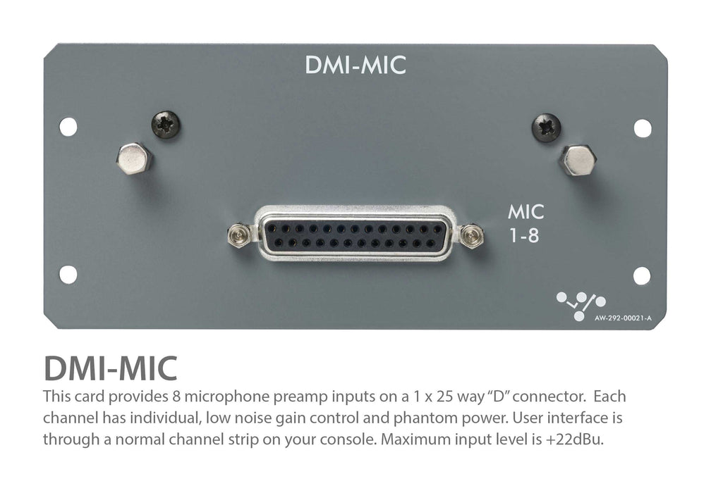 DiGiCo DMI-MIC Preamp Card For S-Series Digital Mixing Consoles (MOD-DMI-MICPRE)
