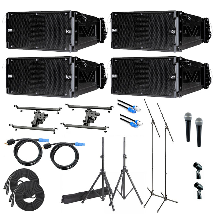 dB Technologies DVA-K5 Active Line Array Speaker Pack  (DVA-K5 Pack C2-2M+ powercons)