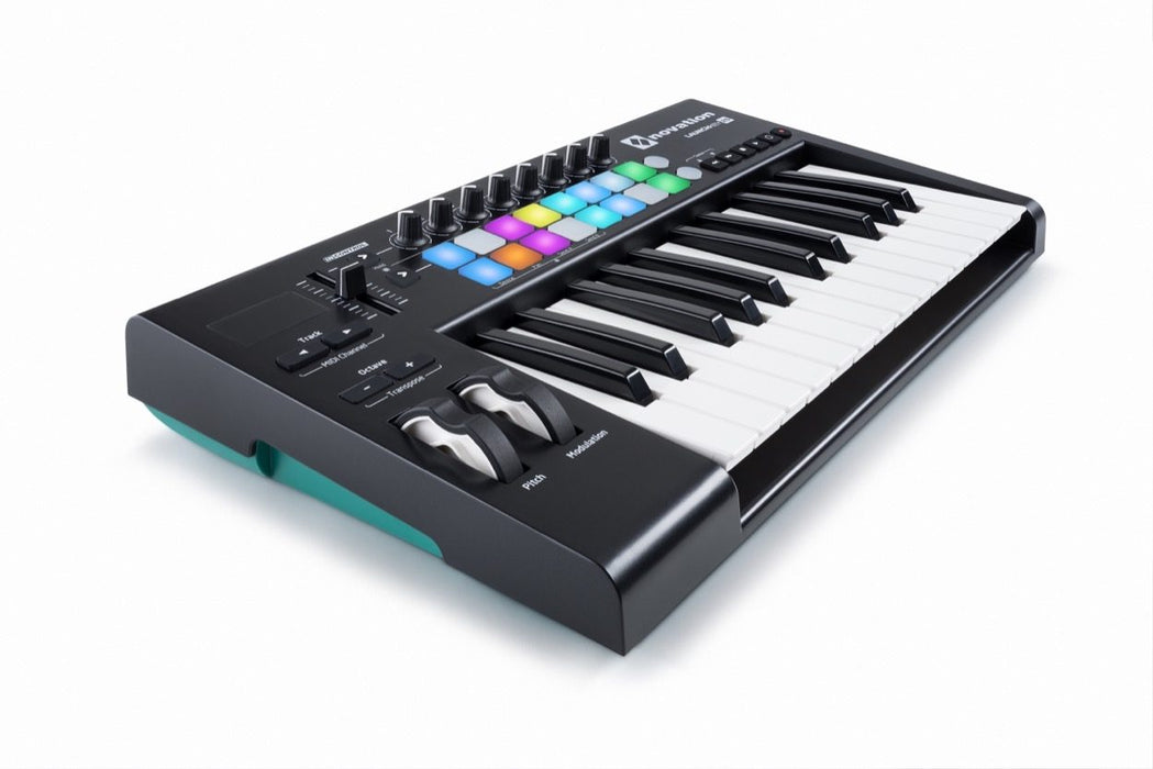 Novation Launchkey 25 MK2 MIDI Keyboard (Includes Ableton Live Lite 9 and other synth software)