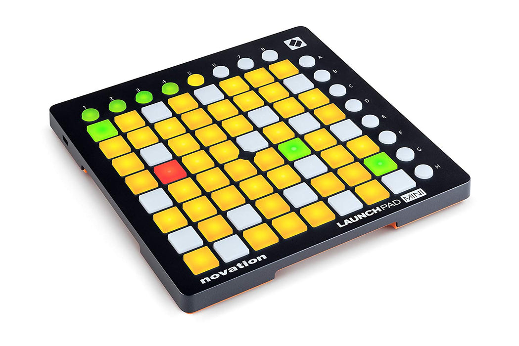 Novation Launch Pad - USB MIDI Controller for Ableton Live with 64 RGB-backlit Pads, 8 Scene-launching Buttons, Bi-directional Ableton Live Communication, and Ableton Live Lite