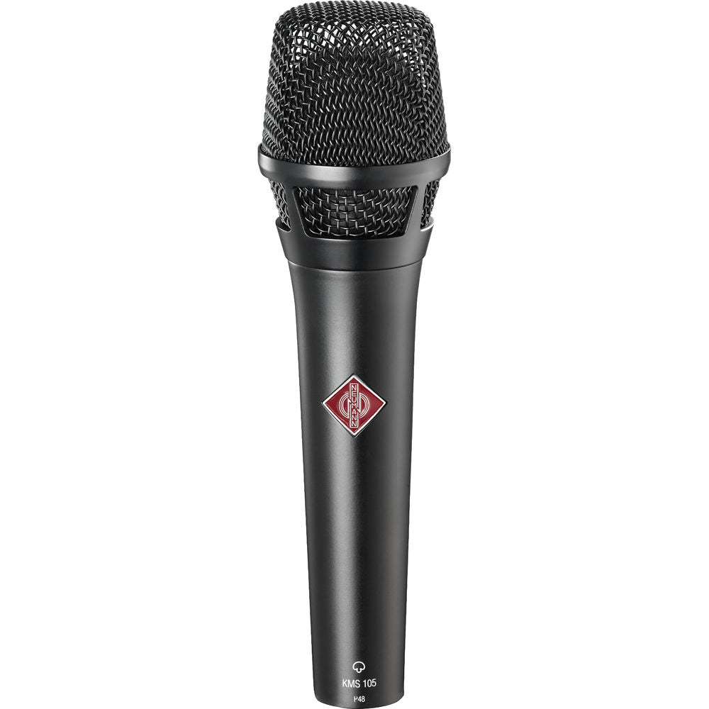 Neumann KMS 105 MT Supercardioid handheld with K 105 capsule, KMS Pouch and SG 105 (Black) (Email for – LOWER- D.O'B. Sound Pro Price)