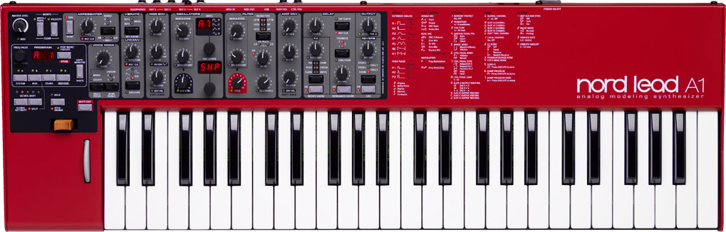 Nord Lead A1 - Analog modeling synthesizer with streamlined interface for fast- track programming.