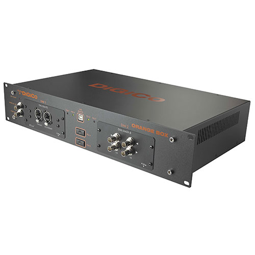 Digico Orange Box with 2 DMI Blank Slots, 2 RU Dual PSU (X-OB)