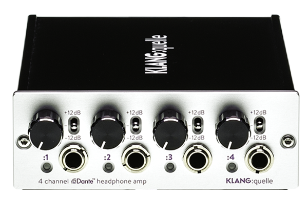 KLANG : quelle Dante Headphone Amp Stand Alone Unit with 4 Stereo Headphone Outputs (w/ level control)