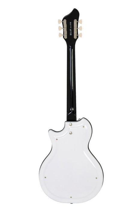 Supro White Holiday Vibrato Semi‑Hollow Electric Guitar 1571VDW