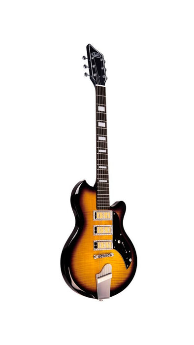 Supro 2030TS Hampton Triple Pickup Island Series (Flame Maple Tobacco Sunburst)